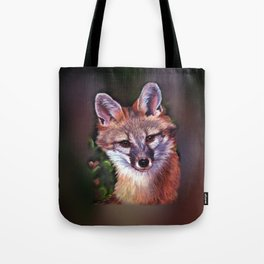 Fox Puppet Tote Bag