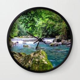Blue River ||III|| Wall Clock