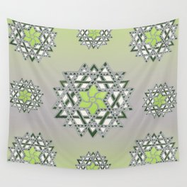 Ishwarya Kolam Geometric mandala Gradient Wall Tapestry