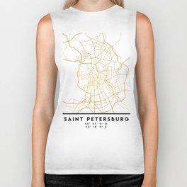 SAINT PETERSBURG CITY STREET MAP ART Biker Tank