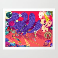 Its a Radiation Vibe Im Groovin On Art Print