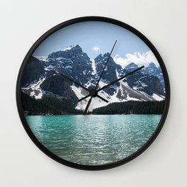 Landscape Lake Moraine Mountains Wall Clock