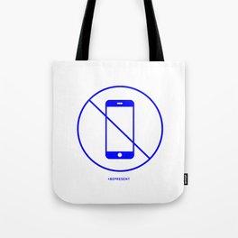 No Phone one (blue) Tote Bag