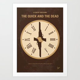 No988 My The Quick and the Dead minimal movie poster Art Print