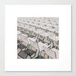Chairs a la Hamburgian Summer Canvas Print