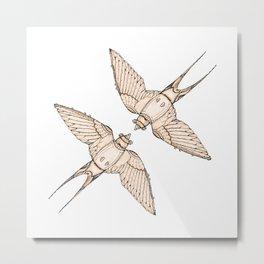 First Flight: Swallow Metal Print