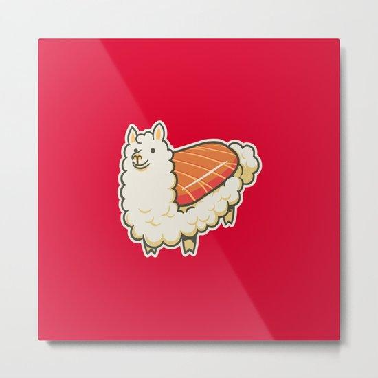 Alpaca Sushi Niguiri II Metal Print