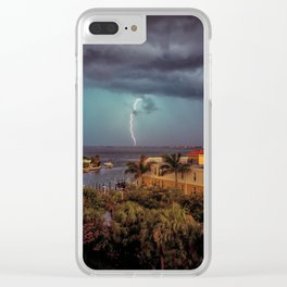Lightening in the Bay Clear iPhone Case