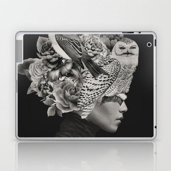 Lady with Birds(portrait) Laptop & iPad Skin