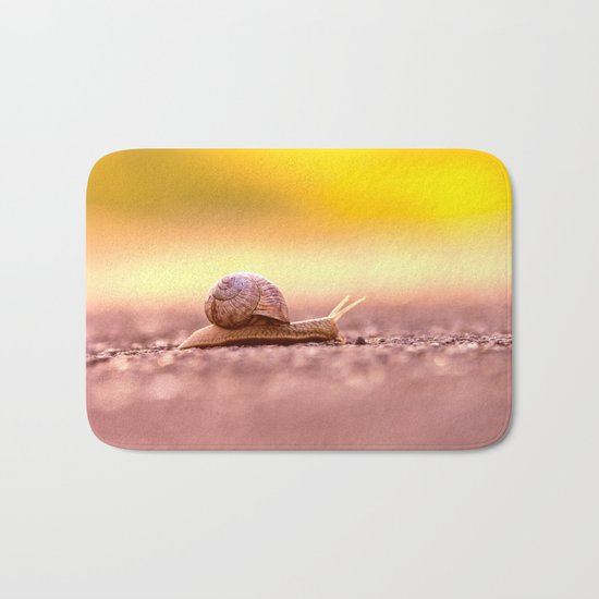Snail shell Design Bath Mat