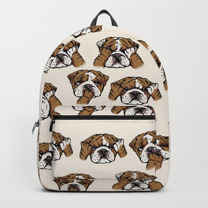 No Evil English Bulldog Backpack