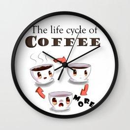 Life cycle of coffee Wall Clock