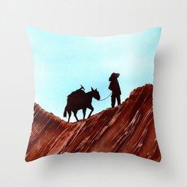 Gold Mining Throw Pillow