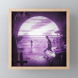 BEACHSIDE Framed Mini Art Print