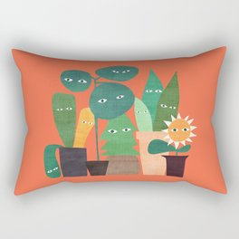 The plants are watching (paranoidos maximucho) Rectangular Pillow