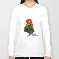 birdy Long Sleeve T-shirts featuring Birdy by KristinaVardazaryan