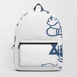 Jew Gift Judaism Israel Religion Rabbi Backpack