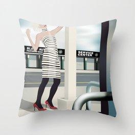 Diesel Street Throw Pillow