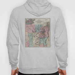 Vintage Map of The Adirondack Mountains (1879) 2 Hoody