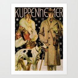 Vintage poster - Kuppenheimer Art Print