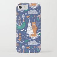 camp iPhone & iPod Cases featuring Bear camp by Demi Goutte