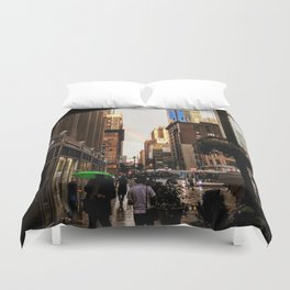 33rd Street with Rainbow Duvet Cover