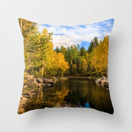 Autumn, Hidden Lake Throw Pillow