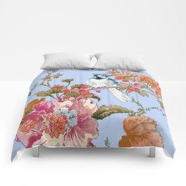 Blue Blue Jay Comforters