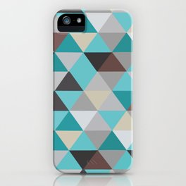 Jacquard blue rombs iPhone Case