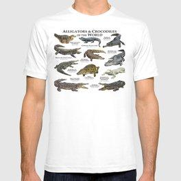 Alligators and Crocodiles of the World T-shirt