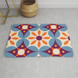 Cement tiles, gemoetric textures, patterns, southern Italy style Rug