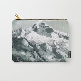 Panoramic View Of Mountain Everest Carry-All Pouch
