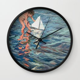 The Little Sailing Boat Wall Clock