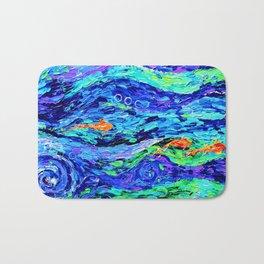 Follow the fish - abstract painting Bath Mat