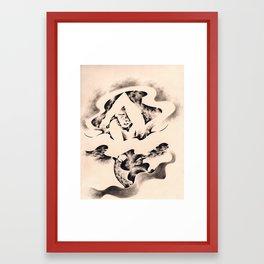 Den Lille Havfrue Framed Art Print