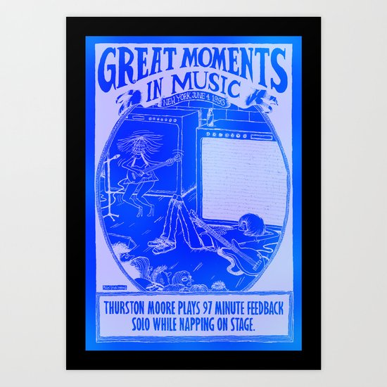 Great Moments In Music Art Print