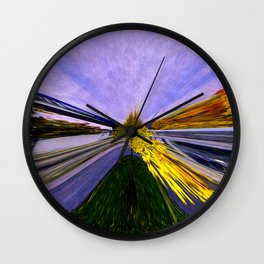 Abstracting Autumn Wall Clock