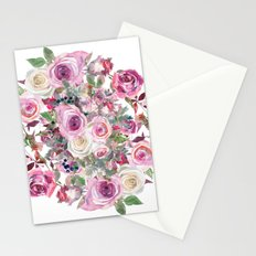 Bouquet of rose - wreath Stationery Cards