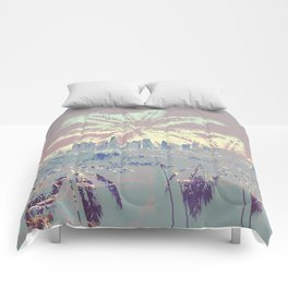 Palm Trees over L.A. Comforters
