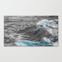 Black and White to Color Wave Canvas Print