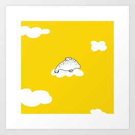 Flying Manatee by Amanda Jones Art Print