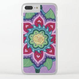 Rose Mandala 2 by Soozie Wray Clear iPhone Case