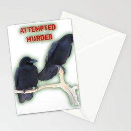 Attempted Murder Corvid Flock Stationery Cards