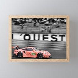 Pink Pig German Sports Motor Car Le Mans 2018 Framed Mini Art Print