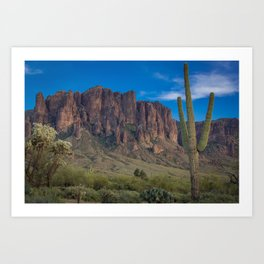 Superstition Mountains Art Print
