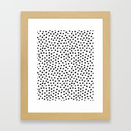 Dalmatian Dots Black White Spots Framed Art Print
