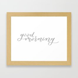 Good Morning Mug Framed Art Print