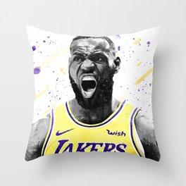 Lebron Basketball Print Basketball Wall Art Basketball Poster Basketball Wall Decor Poster Throw Pillow