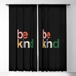 be kind colors rainbow Blackout Curtain