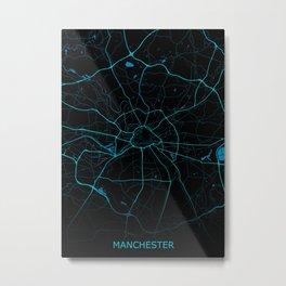 Manchester United kinkdom Road Map Metal Print